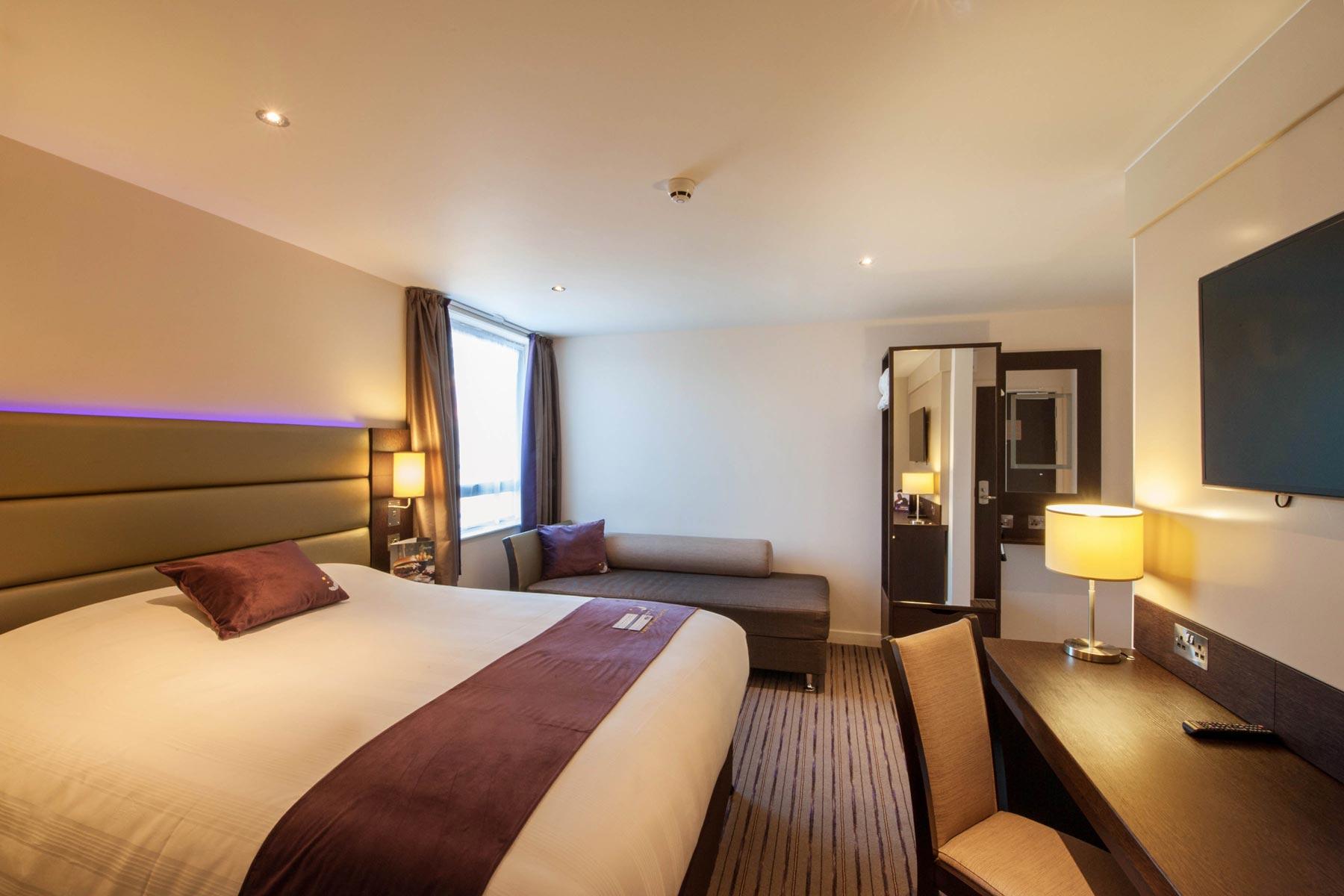 G h checks in for 1 2 million hotel contract g h group for Premier inn family room